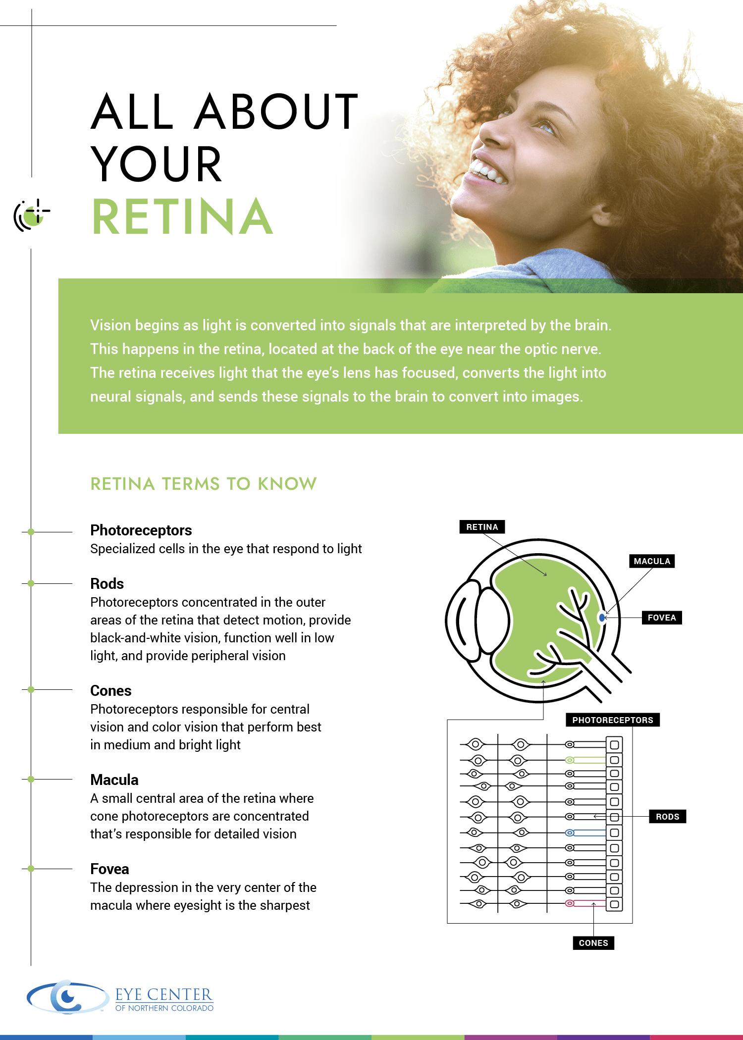 retina eye health infographic